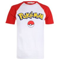 Pokemon Men's Logo Contrast T-Shirt - White/Red - M - White - Pokemon Gifts