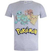 Pokemon Men's Starters T-Shirt - Sport Grey - XXL - Grey - Pokemon Gifts