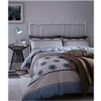 Catherine Lansfield Retro Bands Bedding Set - Teal - Single - Teal