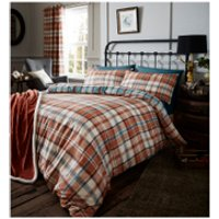 Catherine Lansfield Heritage Kelso Check Bedding Set - Spice - King