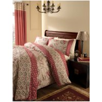Catherine Lansfield Kashmir Bedding Set - Red - Single - Red