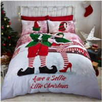 Catherine Lansfield Selfie Elfie Bedding Set - Multi - Single - Multi