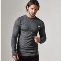 Seamless Long-Sleeve T-Shirt - L - Black