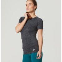Myprotein Womens Seamless Short Sleeve T-Shirt - Smoke - XS - Black