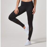 Heartbeat Mesh Full-Length Leggings - M - Black