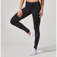 Heartbeat Mesh Full-Length Leggings - XS - Black