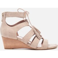 UGG Women's Yasmin Snake Tassle Leather Wedged Sandals - Horchata - UK 3.5 - Beige