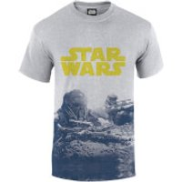 Star Wars Rogue One Men's Blue Death Trooper Print T-Shirt - Grey - L - Grey