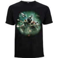 Star Wars Rogue One Men's Group Battle T-Shirt - Black - S - Black - Star Wars Gifts