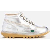 Kickers Kids Kick Hi Boots - Silver - UK 2 Junior/EU 34 - Silver