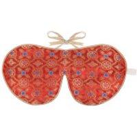 Holistic Silk Eye Mask Slipper Gift Set - Tibetan Orange (Various Sizes) - S