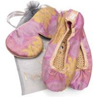 Holistic Silk Eye Mask Slipper Gift Set - Rose (Various Sizes) - L
