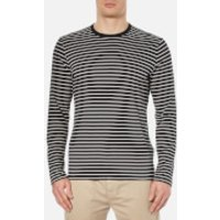Folk Men's Long Sleeve Stripe T-Shirt - Grey - L - Grey