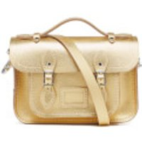 The Cambridge Satchel Company Womens Mini Satchel - Gold Saffiano