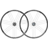 Campagnolo Zonda C17 Disc Brake Bolt-Thru Clincher Wheelset 2018 - Black - 6 Bolt Rotor - Campagnolo