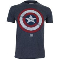 Marvel Boys Captain America Shield T-Shirt - Heather Navy - 11-12 Years - Navy