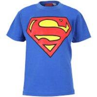 DC Comics Boys' Superman Logo T-Shirt - Royal Blue - 9-10 Years - Blue - Superman Gifts