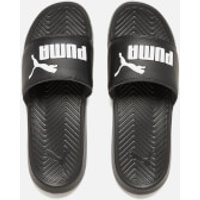 Puma Popcat Slide Sandals - Black/Black/White - UK 3 - Black