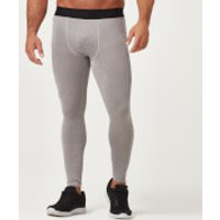 Charge Compression Tights - L - Grey Marl