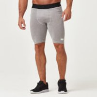Charge Compression Shorts - L - Grey Marl