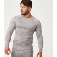 Charge Compression Long Sleeve Top - L - Grey Marl