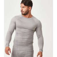 Charge Compression Long Sleeve Top - XXL - Grey Marl