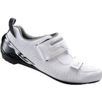 Shimano TR5 SPD-SL Triathlon Shoes - White - EU 39 - White