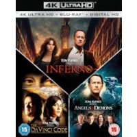 Inferno, Angels & Demons & The Da Vinci Code 4K Ultra HD Boxset (7 Discs Set)