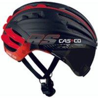 Casco Speedairo RS Helmet with Vautron Visor - Black/Red - L (59-63cm) - Black/Red
