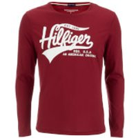 Tommy Hilfiger Mens Organic Cotton T-Shirt - Rhubarb - M - Red