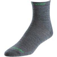 Pearl Izumi Elite Wool Socks - Shadow Grey - M - Grey