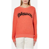Maison Scotch Womens Blauw Burnout Sweatshirt - Lips - UK 10/2