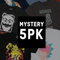 Mystery Geek T-Shirt - 5-Pack - Mens - M