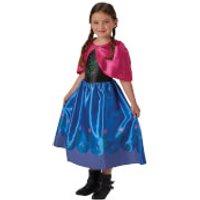 Disney Girls Frozen Anna Fancy Dress Costume - M - Blue
