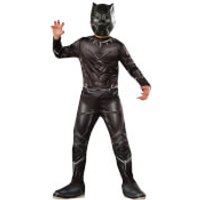 Marvel Boys' Captain America Black Panther Fancy Dress Costume - L - Black