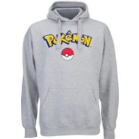 Pokemon Men's Logo Hoody - Grey Marl - XL - Grey - Pokemon Gifts