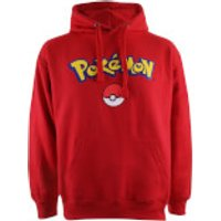 Pokemon Men's Logo Hoody - Red - XL - Red - Pokemon Gifts