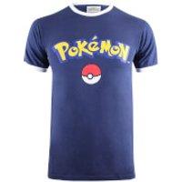Pokemon Men's Logo T-Shirt - Navy/White - S - Navy/White - Pokemon Gifts