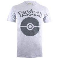 Pokemon Men's Pokeball Symbol T-Shirt - Grey Marl - S - Grey - Pokemon Gifts