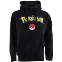 Pokemon Men's Logo Hoody - Black - L - Black - Pokemon Gifts