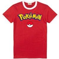Pokemon Men's Logo T-Shirt - Red/White - S - Red/White - Pokemon Gifts