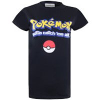 Pokemon Men's Gotta Catch Em All Logo T-Shirt - Black - S - Black - Pokemon Gifts