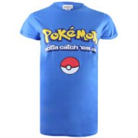 Pokemon Men's Gotta Catch Em All Logo T-Shirt - Royal Blue - S - Blue - Pokemon Gifts