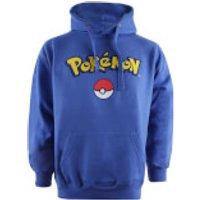 Pokemon Men's Logo Hoody - Royal Blue - XL - Blue - Pokemon Gifts