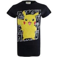 Pokemon Women's Pikachu Victory T-Shirt - Black - XL - Black - Pokemon Gifts