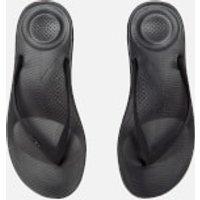 FitFlop Women's Iqushion Ergonomic Flip Flops - All Black - UK 4 - Black