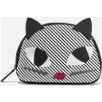 lulu-guinness-women-stripe-kooky-cat-crescent-pouch-black-white
