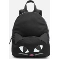 Lulu Guinness Womens Medium Kooky Cat Backpack - Black