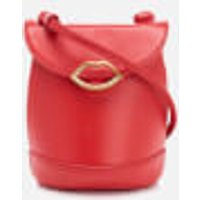 Lulu Guinness Womens Joanna Smooth Leather Cross Body Bag - Coral