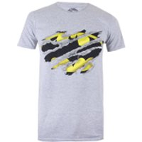 DC Comics Mens Batman Torn T-Shirtport Grey - S - Grey